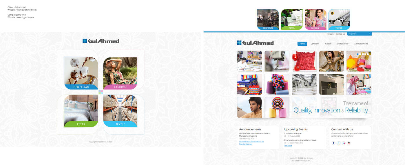 Gul Ahmed interface Design / development
