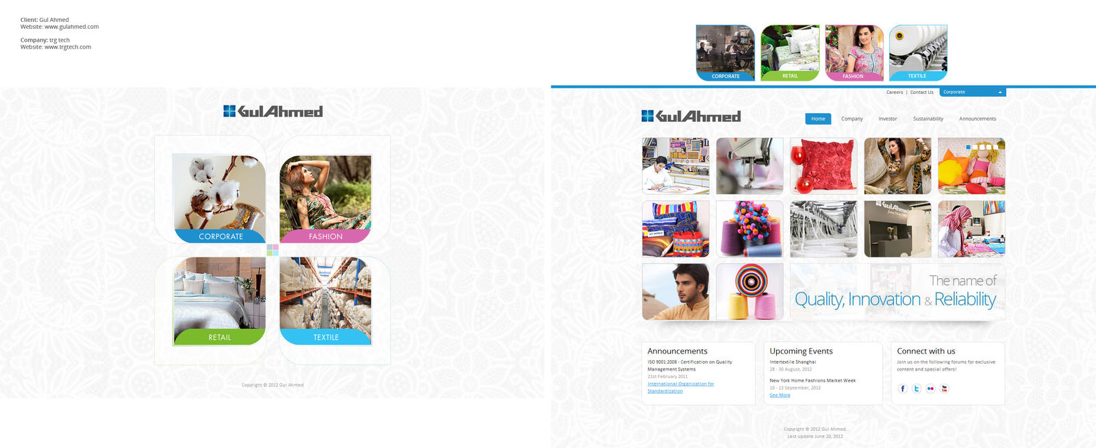 Gul Ahmed interface Design / development by salmanlp