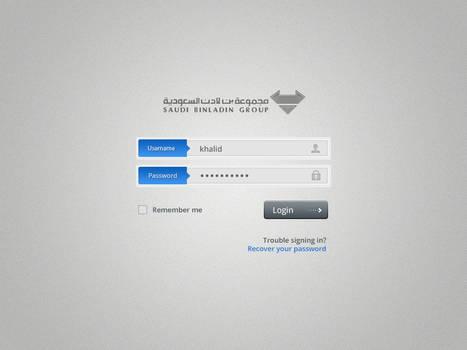 Application login page design