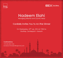 Iftar Invitation card design