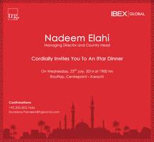 Iftar Invitation card design by salmanlp