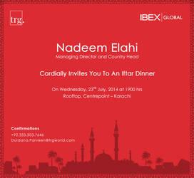 Iftar Invitation card design