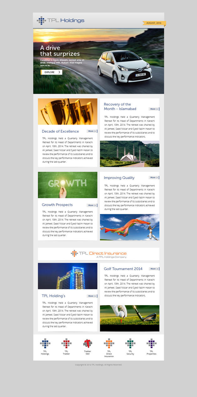 Newsletter design by salmanlp