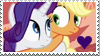 Stamp: Rarity x Applejack V.1 by Mint-Berry-Crunch-69