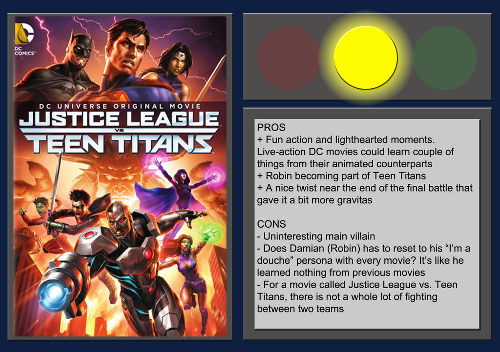 Justice league vs teen titans movie review by blueprintpredator teen titans movie review by blueprintpredator malvernweather Gallery