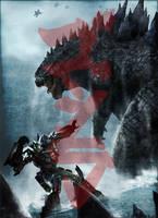 Godzilla vs. Transformers: Powers Apart Them by BlueprintPredator