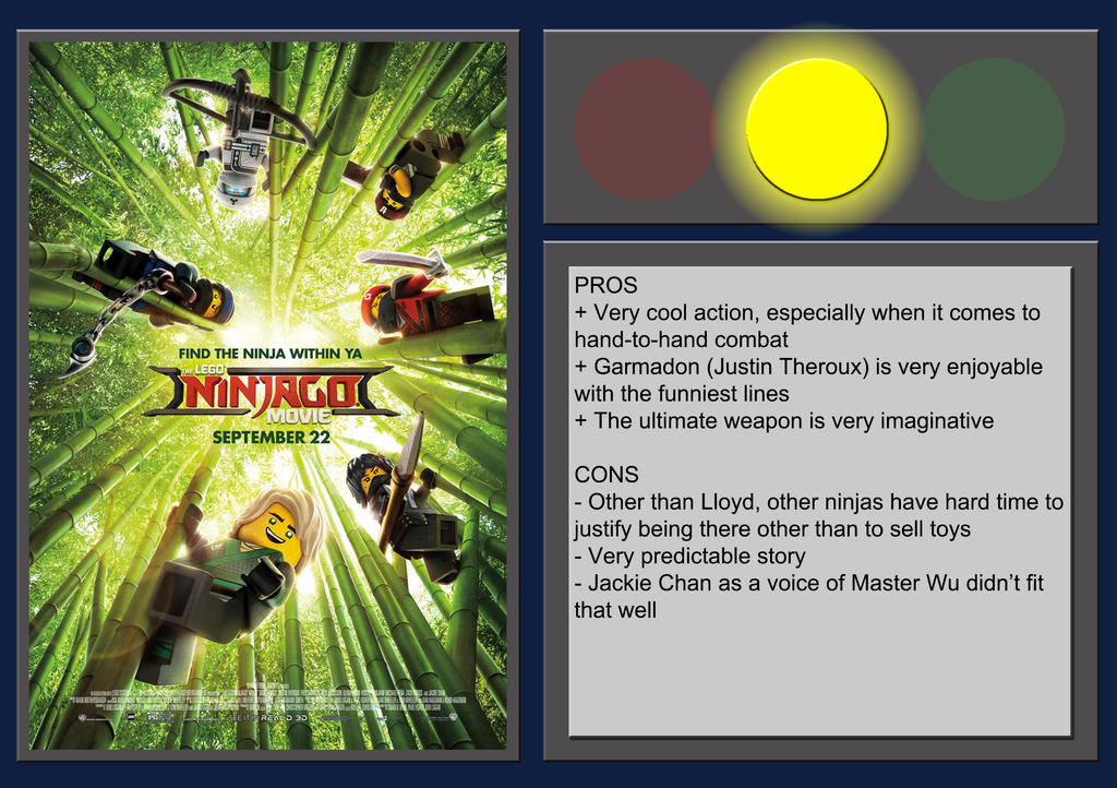 The LEGO Ninjago Movie - Movie Review by BlueprintPredator