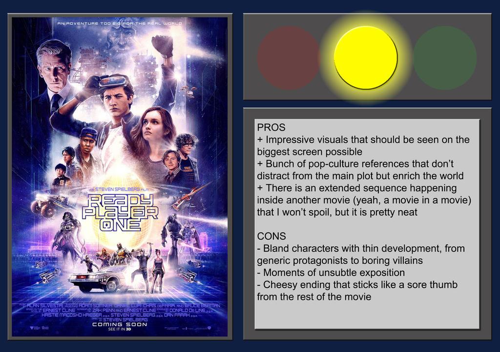 Ready Player One - Movie Review by BlueprintPredator