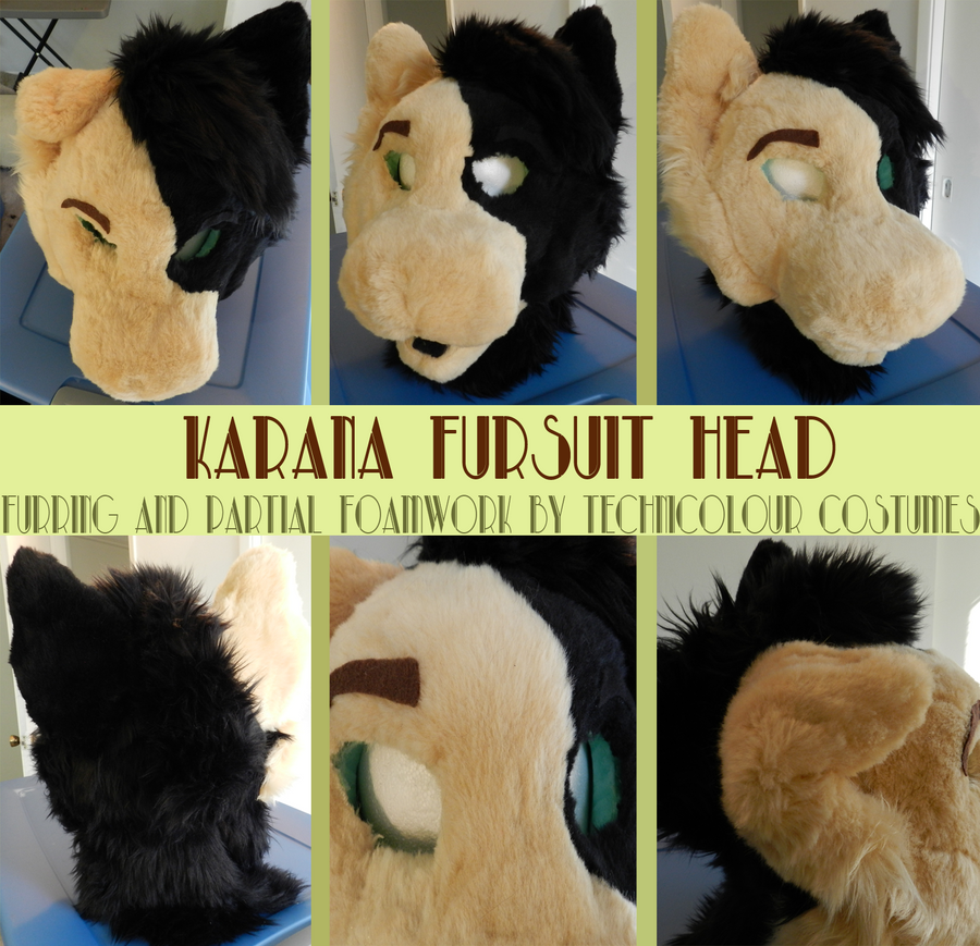 Karana Incomplete Fursuit Head by TECHNlCOLOUR