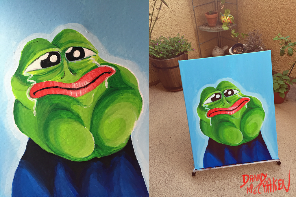 Rare Pepe Painting by TECHNlCOLOUR on DeviantArt: technlcolour.deviantart.com/art/Rare-Pepe-Painting-527158046