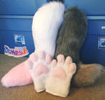 (WIP) Current Fursuit Projects by danneroni