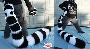 Fuzzy Bolt Fursuit Tail by TECHNlCOLOUR