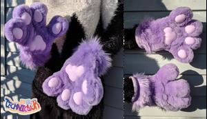 (FOR SALE) Lavender Fursuit Handpaws