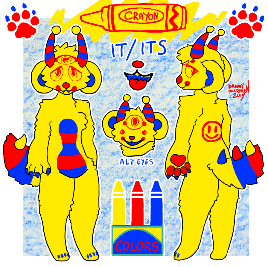 Crayon Reference Sheet 2019 by TECHNlCOLOUR
