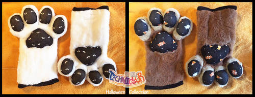 (FOR SALE) Halloween Themed Fursuit Handpaws