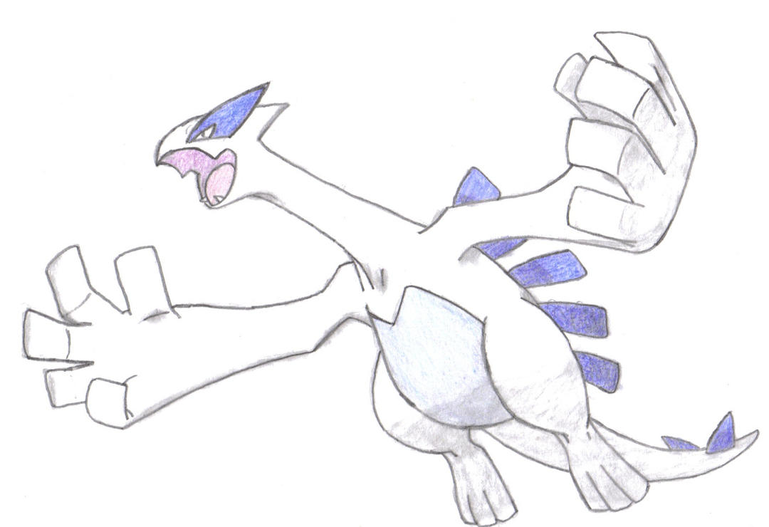 How To Draw Lugia - Draw Central