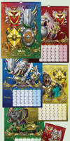 2016 wall calendar with the author's picture arts by Inshader