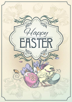 Happy Easter The postcard 2