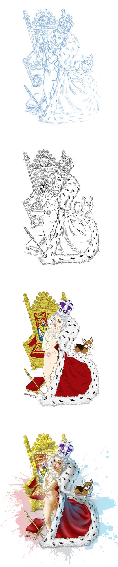 The Queen. Inking and coloring by Inshader