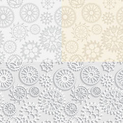 Vector seamless vintage gears mechanical backgroun