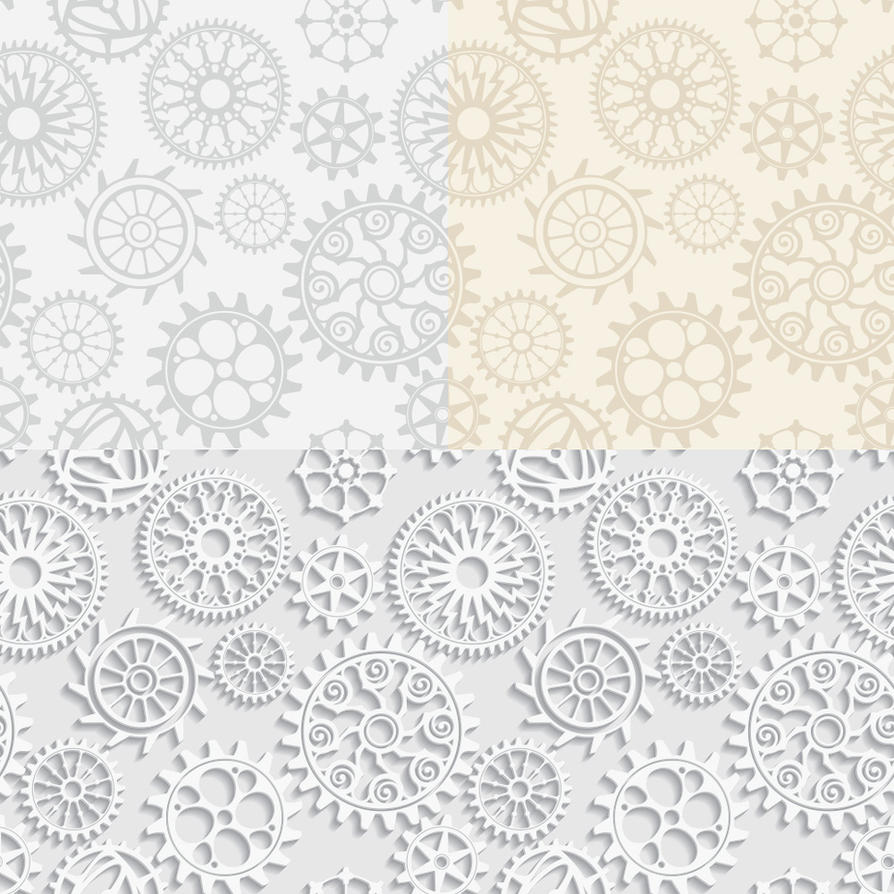 Vector seamless vintage gears mechanical backgroun by Inshader