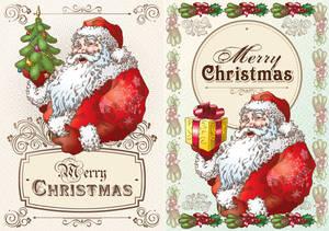 Christmas Postcard with Santa Claus