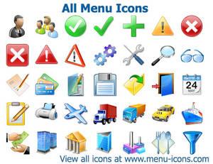 All Menu Icons