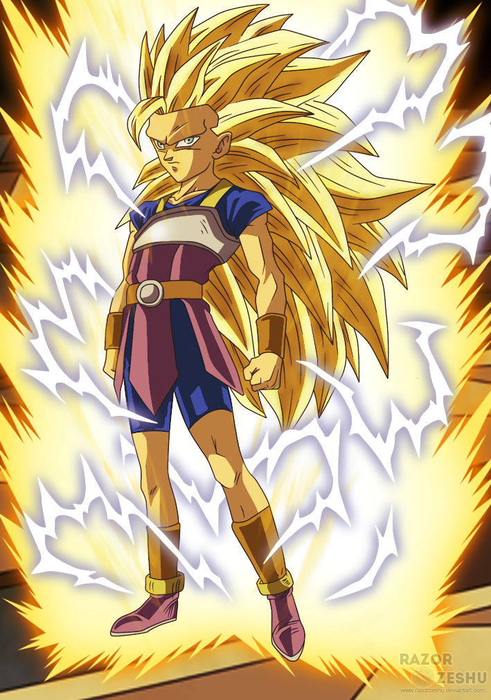 dragon ball super kyabe super saiyan 3 by razorzeshu - Dragon B