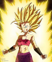 Dragon Ball Super - Caulifla Super Saiyan 2 by razorzeshu