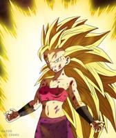 Dragon Ball Super - Caulifla Super Saiyan 3 by razorzeshu
