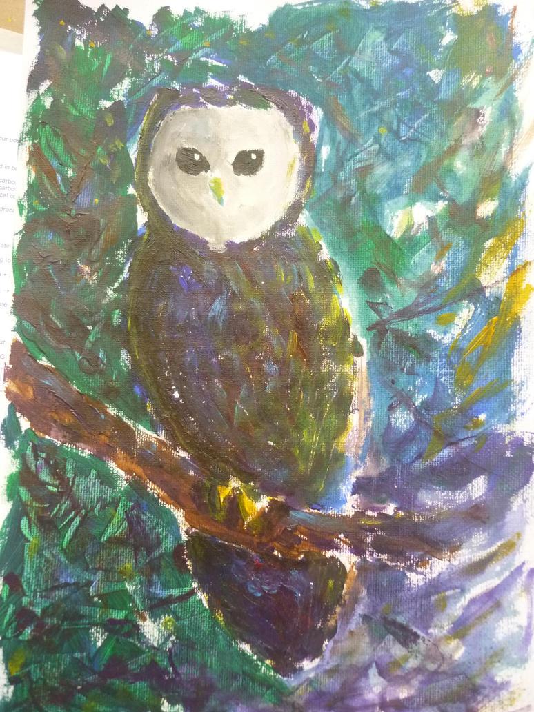 Owl Canvas Painting Ideas