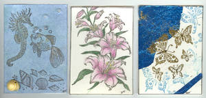 Artist Trading Cards - Group 1 by LuvLoz