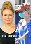Beautiful Actress Renee Zellweger Wearing Respirat