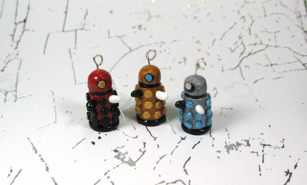 Charms: Daleks by okapirose