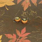 Pumpkin Muffin Earrings by okapirose