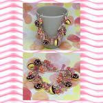 Pink Doughnut Bracelet by okapirose