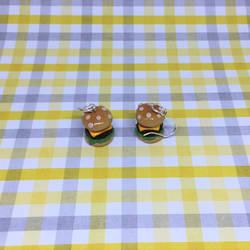 Burger Earrings by okapirose