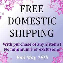 Free Domestic Shipping thru May 19th by okapirose