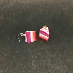 Lesbian Pride Cake Earrings by okapirose