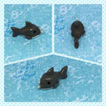 Keychain Charms: Great White Shark by okapirose
