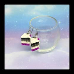 Asexual Pride Cake Earrings