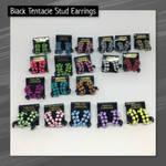 Tentacle Stud Earrings (Black) by okapirose