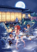 Onsen Battle by Miladymorigane