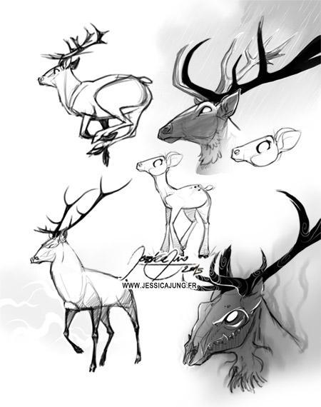 Deer - May Sketch by Miladymorigane
