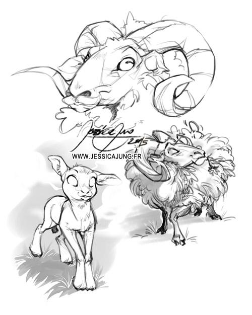 Aries - May Sketch by Miladymorigane