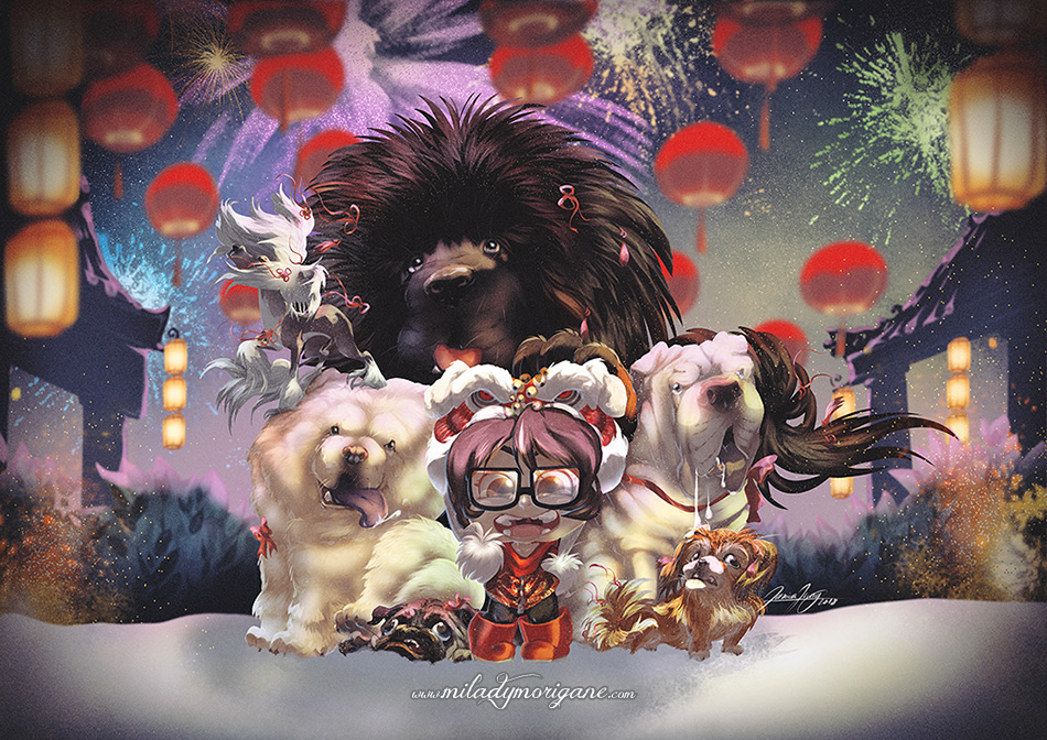 Year of Dog by Miladymorigane