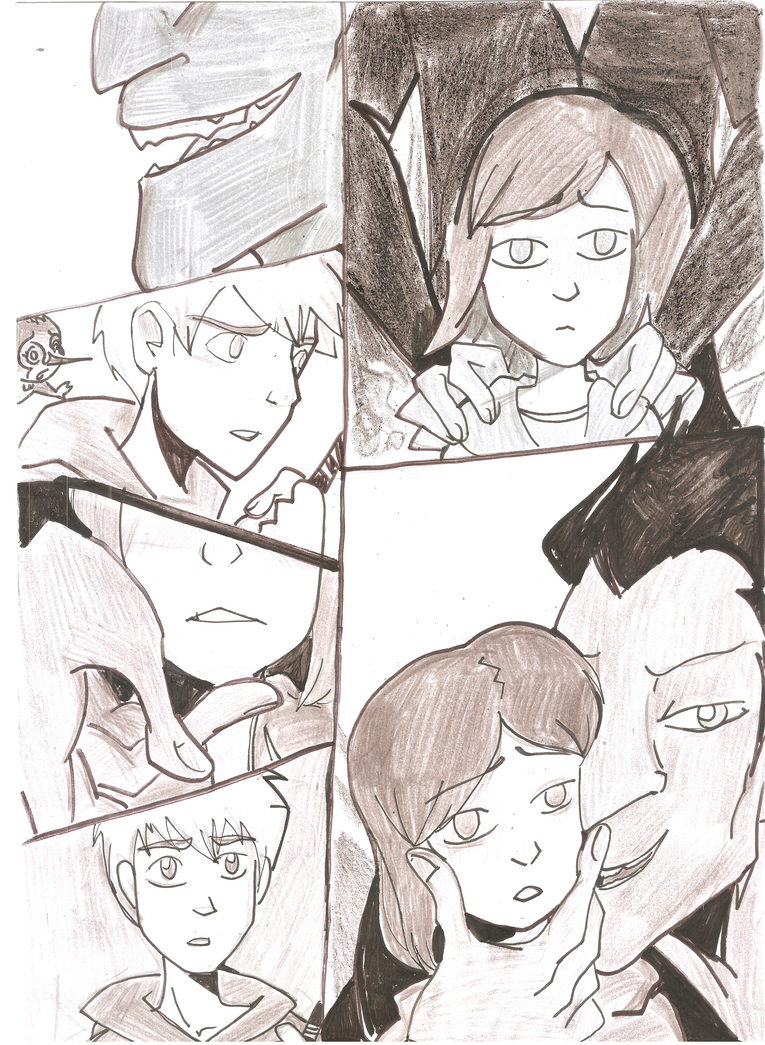 Jack Frost, Pitch Black and Jenny Bennett by gelfnig