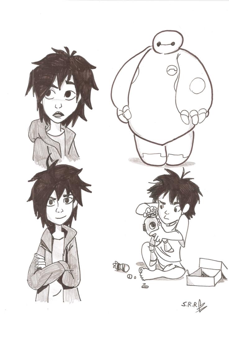 Hiro and  Baymax by gelfnig