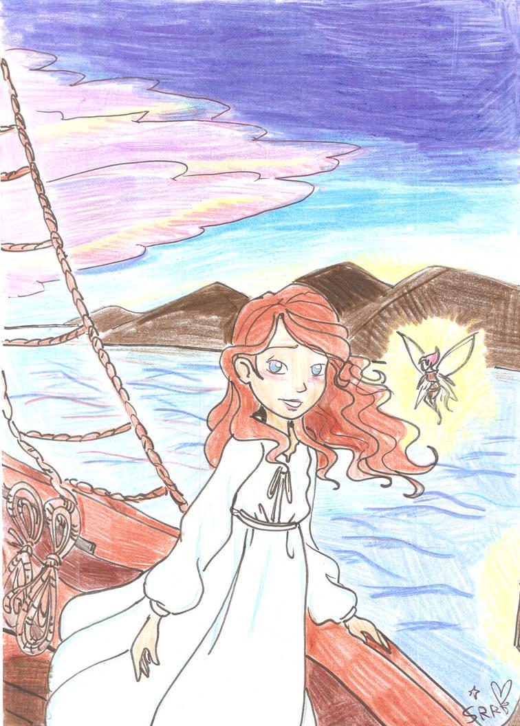 Ashley and Firawyn on the boat