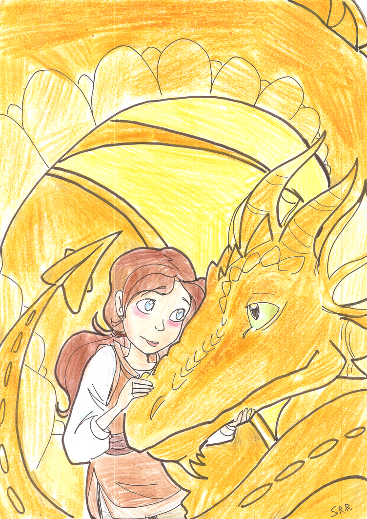 Ashley and the Dragon by gelfnig